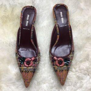 Miu Miu Kitten Heel Shoes